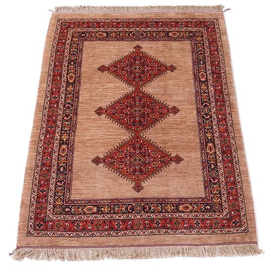 ペルシャ絨毯 カシュガイ Berahne pushan 191×151cm