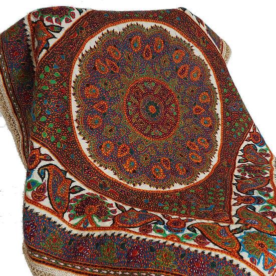 ケルマーン刺繍 パテ 85×85cm ネギーン