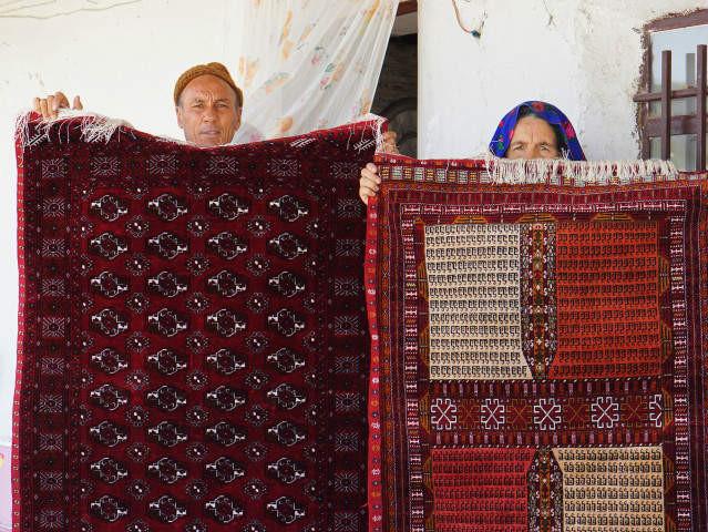 ドゥイドフ村 トルキャマン シルク絨毯 両面織