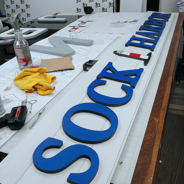 Sock Harbor CNC Cut & Printed Dimensional Sign
