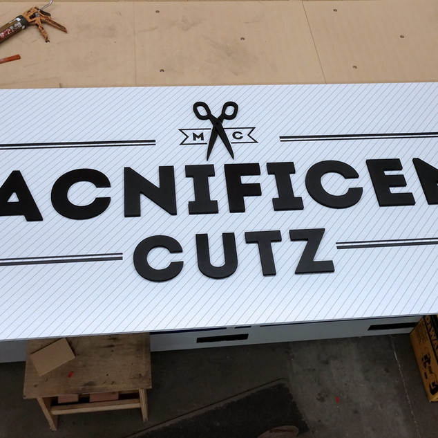 Magnificent Cutz CNC Dimensional Sign