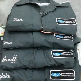 Ford Developer Program Embroidered Mechanics Work Shirts