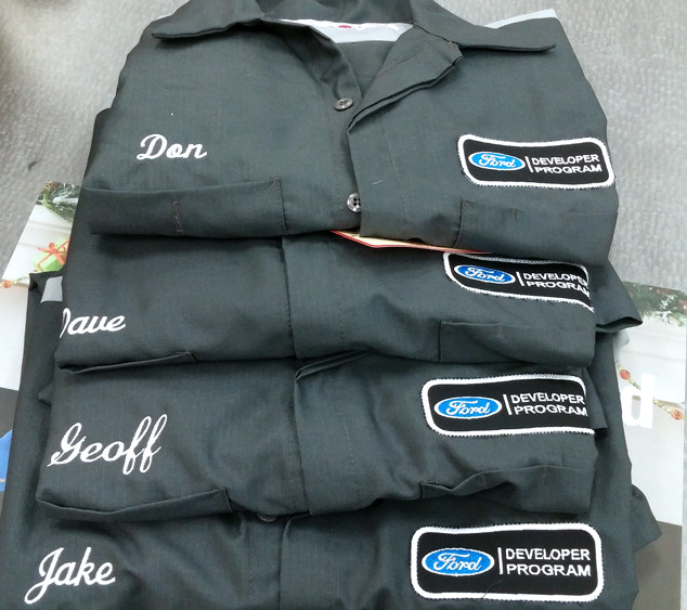 Ford Developer Program Embroidered Mechanics Work Shirts