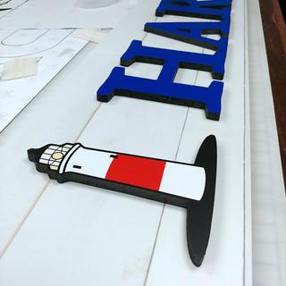 Sock Harbor CNC Cut & Printed Dimensional Sign