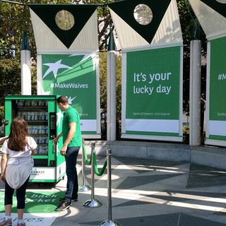 Bank of the West Backdrop Banners & Vending Machine Wrap