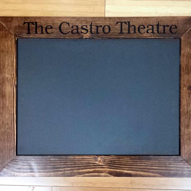 The Castro Theatre Chalkboard