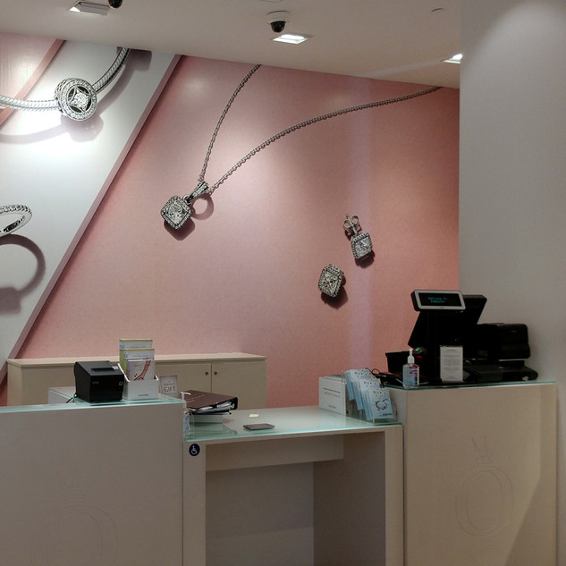 Pandora Jewelers Retail Wall Wraps
