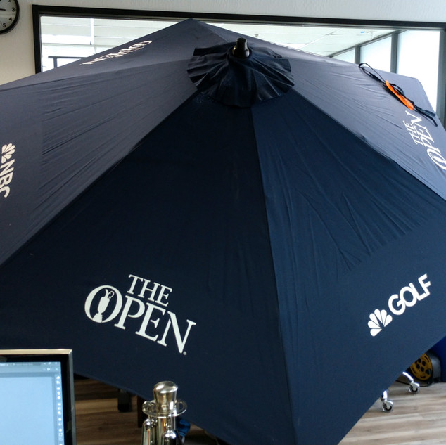NBC Golf Custom Umbrella Graphics