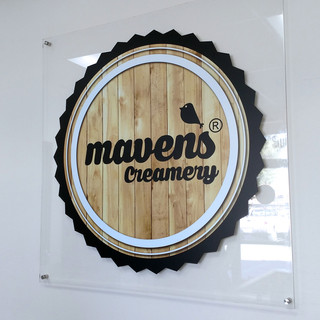 Mavens Creamery Logo Labels & Wraps