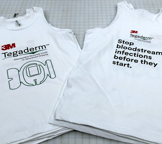 3M Tegaderm Direct Print Tank Tops