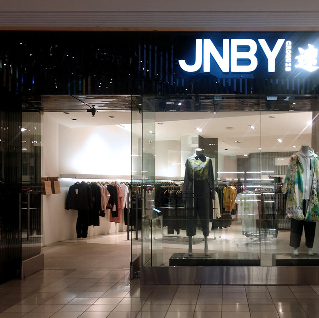 JNBY Indoor Front Lit Channel Letters