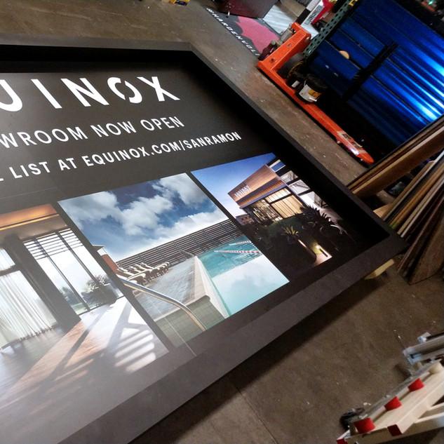 Equinox Gym Building Wayfinding Signs