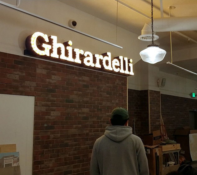 Ghirardelli Chocolates Marquee Sign