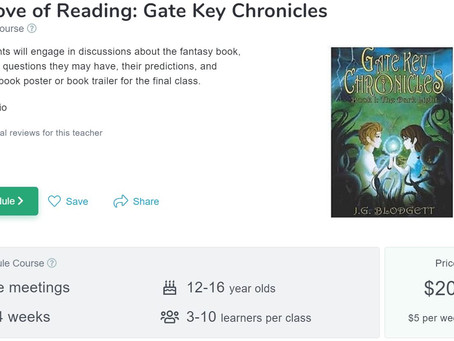 Educational Collaborations: Gate Key Chronicles and Ms. M. from Outschool