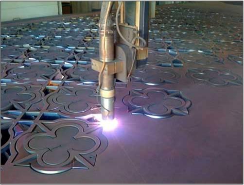 Plasma Cutting in Process