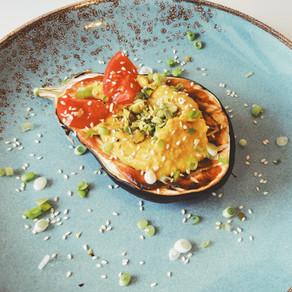 Aubergine miso, Hummus au curcuma