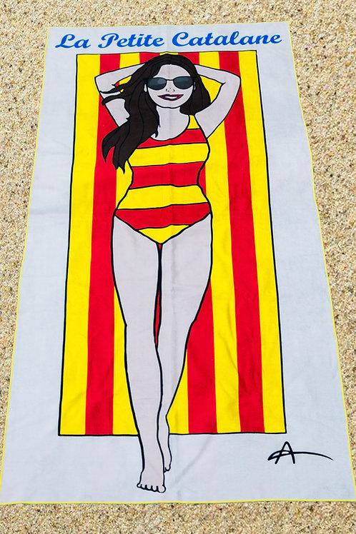 """Serviette de plage """"La Petite Catalane"""""""