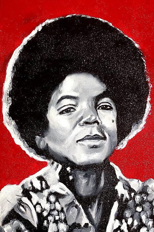 """Michael Jackson"" Satin Print"