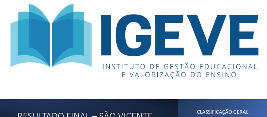 RESULTADO FINAL: processo seletivo de São Vicente - classificação e entrega de documentos.