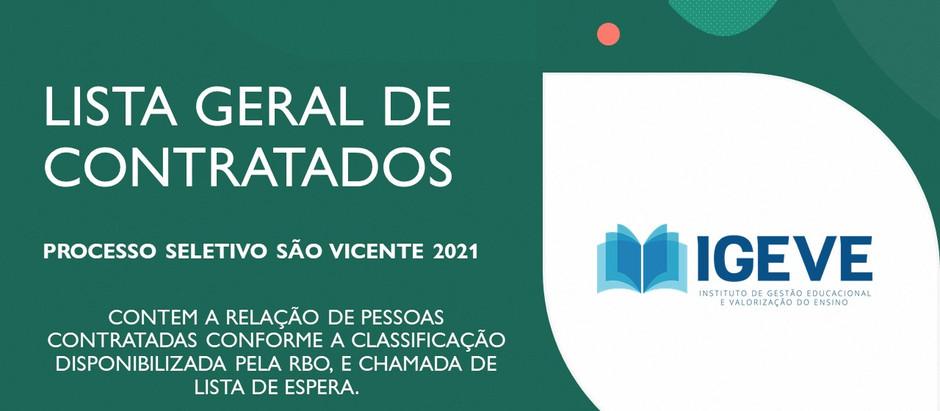 Lista de contratados: São Vicente 2021