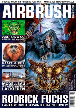 Airbrush step by step cover feb-mar 2017  Harley Girl article