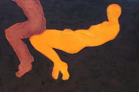 130 X 195 cm cire et pigments sur bois 2