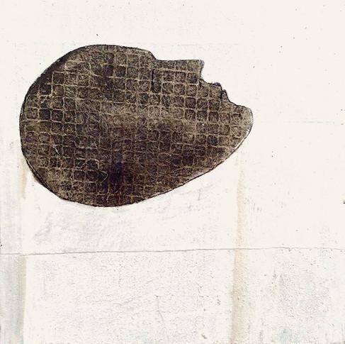 50 X 50 cm huile et goudron sur papier.