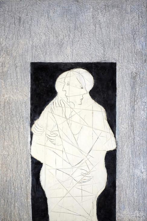 Sans Titre 2014 195 x 130 cm   wax and p