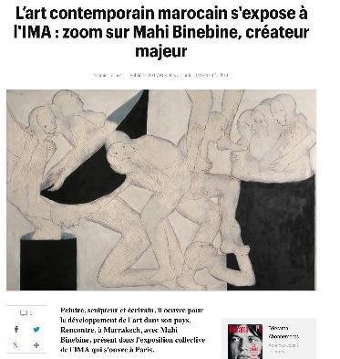 L'art contemporain marocain s'expose à l'IMA : zoom sur Mahi Binebine, créateur majeur (Télé