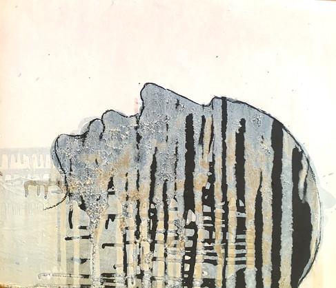 40 x 30 cm Huile et goudron sur papier 2