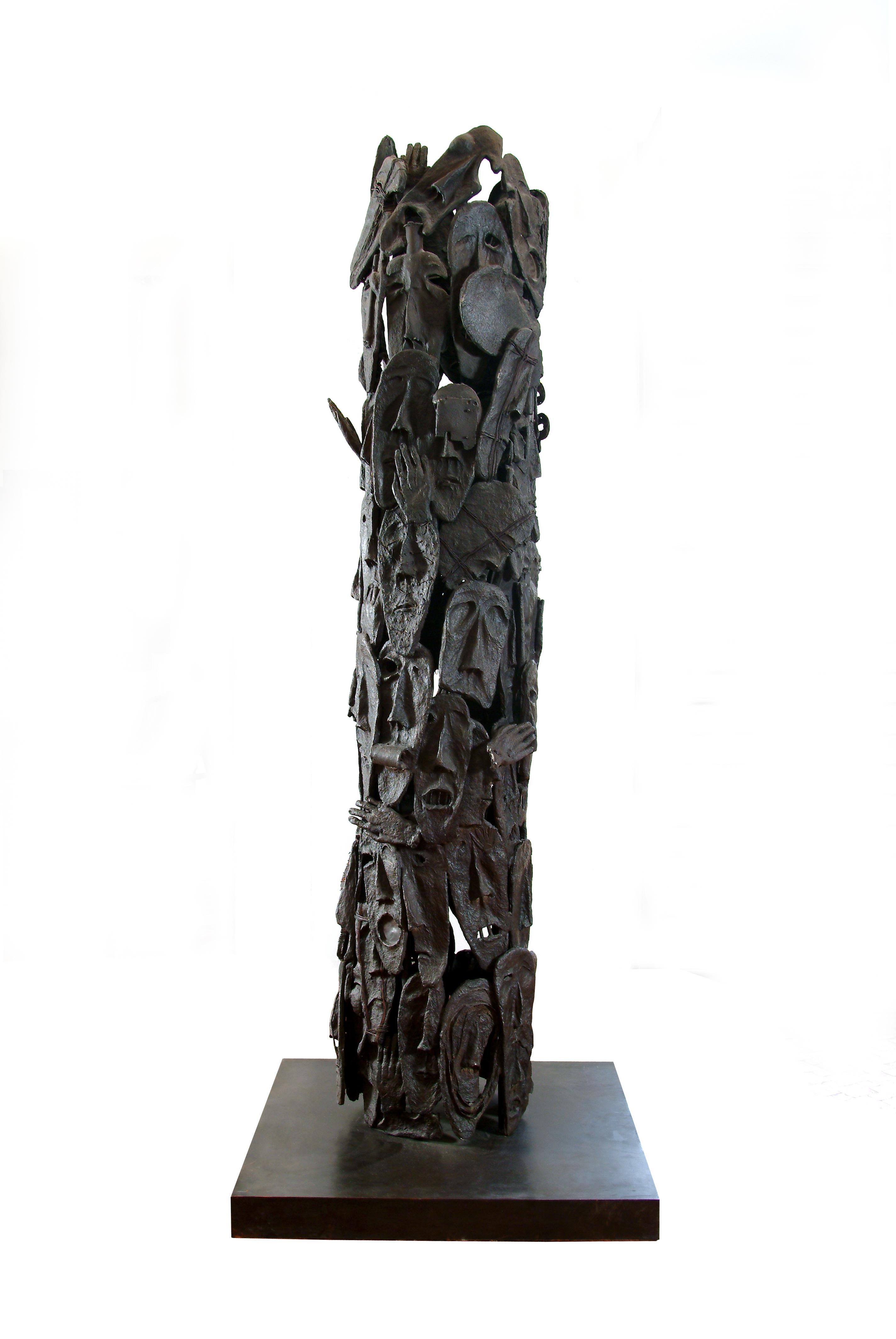 Sculpture Bronze 2007               Haut 280cm Diam 60 cm