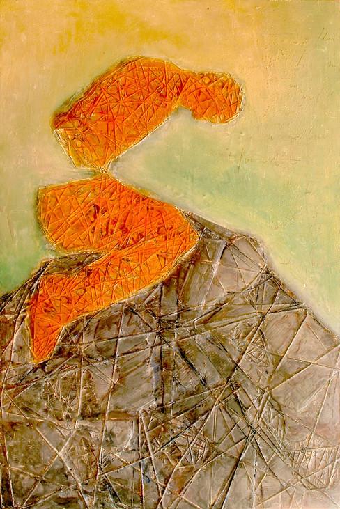 &95 x 130 cm Cire et pigments sur bois 2