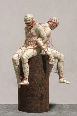 Sculpture bronze Hauteur 280cm  diam 120 cm copie 3
