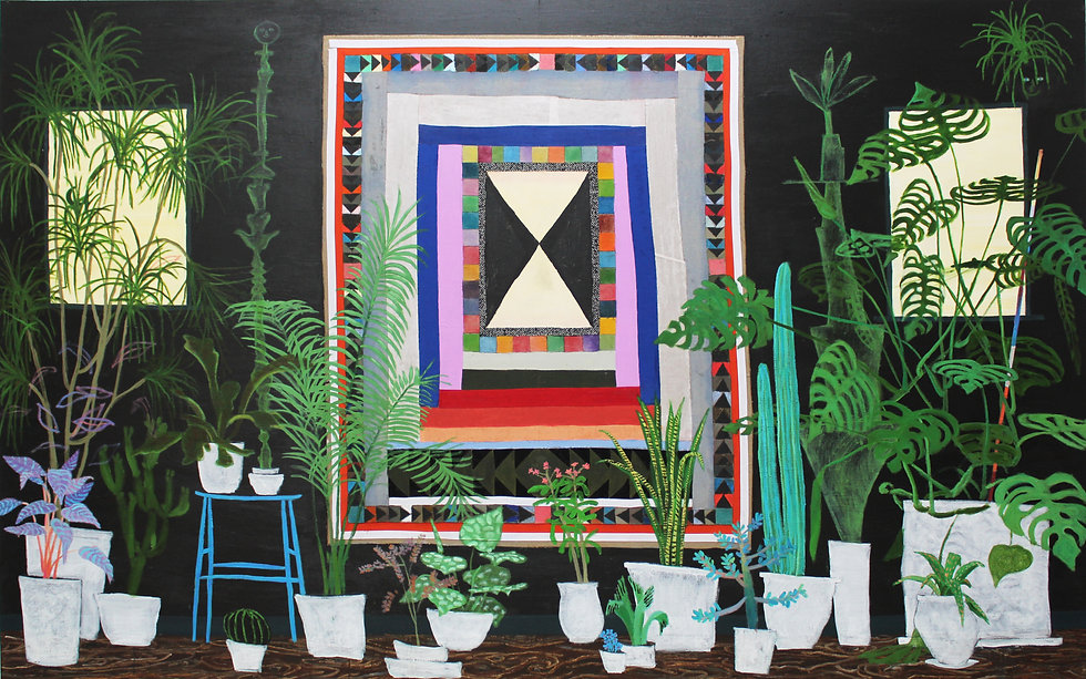 Tom Howse - Plants and Quilts, 2018, 350