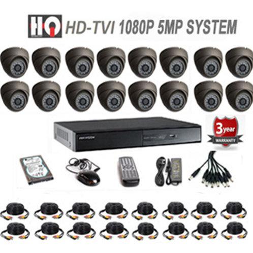 16 Channel TVI 5MP HD Digital Security Camera System