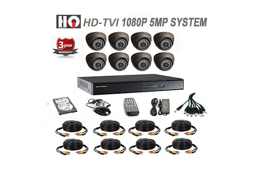 8 Channel TVI 5MP HD Digital Security Camera System