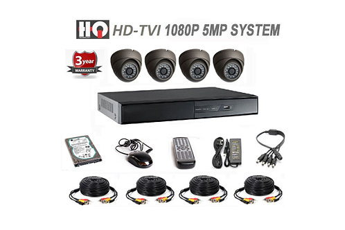 4 Channel TVI 5MP HD Digital Security Camera System