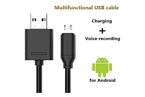Android Audio Recorder Charger Cord (Yep, Sneaky)