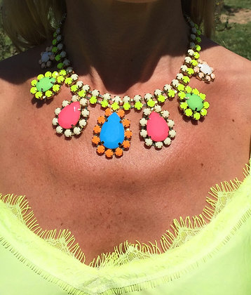 Collier chourouk multicolores