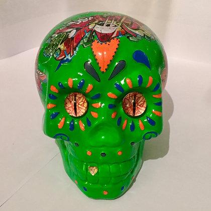 statue Sculpture Pop art Crâne tête de mort