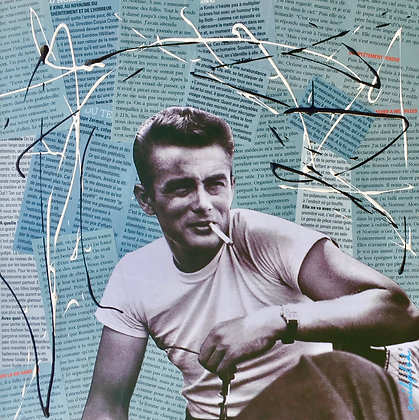 Tableau collages enihpled James Dean art