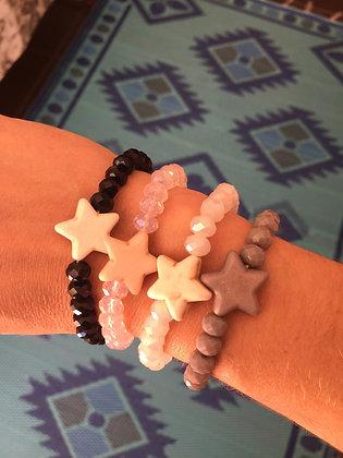 Bracelet en perles et étoile