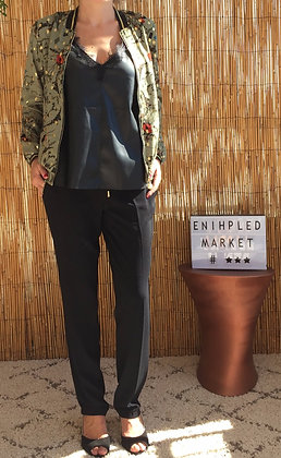 Pantalon fluide noir classique
