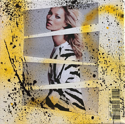 Tableau collages pop art kate moss