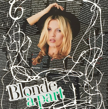 Tableau en collages Kate Moss london