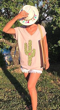 Tee shirt cactus léopard