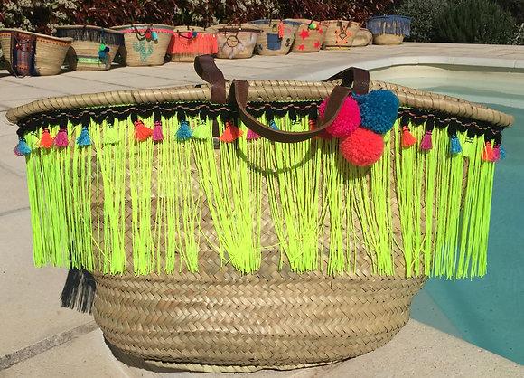 Panier de plage customisé à franges
