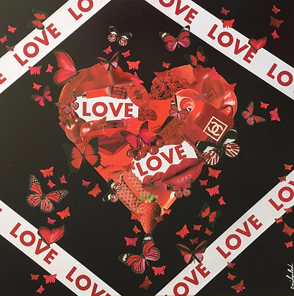 Tableau art love amour collages