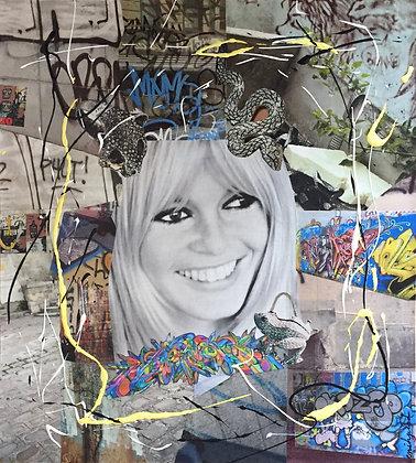 Tableau collages brigitte bardot art canvas