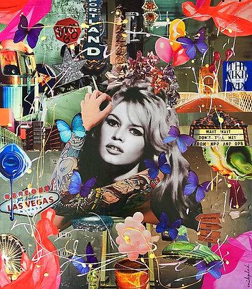 Tableau collages brigitte bardot pop art